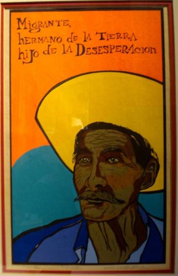 """""""Migrante, Hermano de la Tierra, hijo de la Desesperación,"""" Amado Peña (Austin, TX), 1976"""