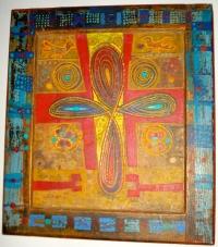 """Untitled (Coptic cross), Alexander """"Skunder"""" Boghossian (Ethiopia, Paris, DC), 1984"""