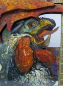 """Self-portrait of a rooster,"" Mona Dareshshaveli"